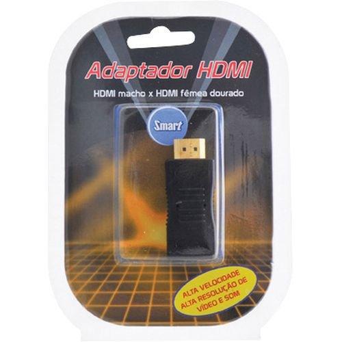 adaptador hdmi sensacional macho x hdmi femea gold incrivel smart 27865 2000 157737