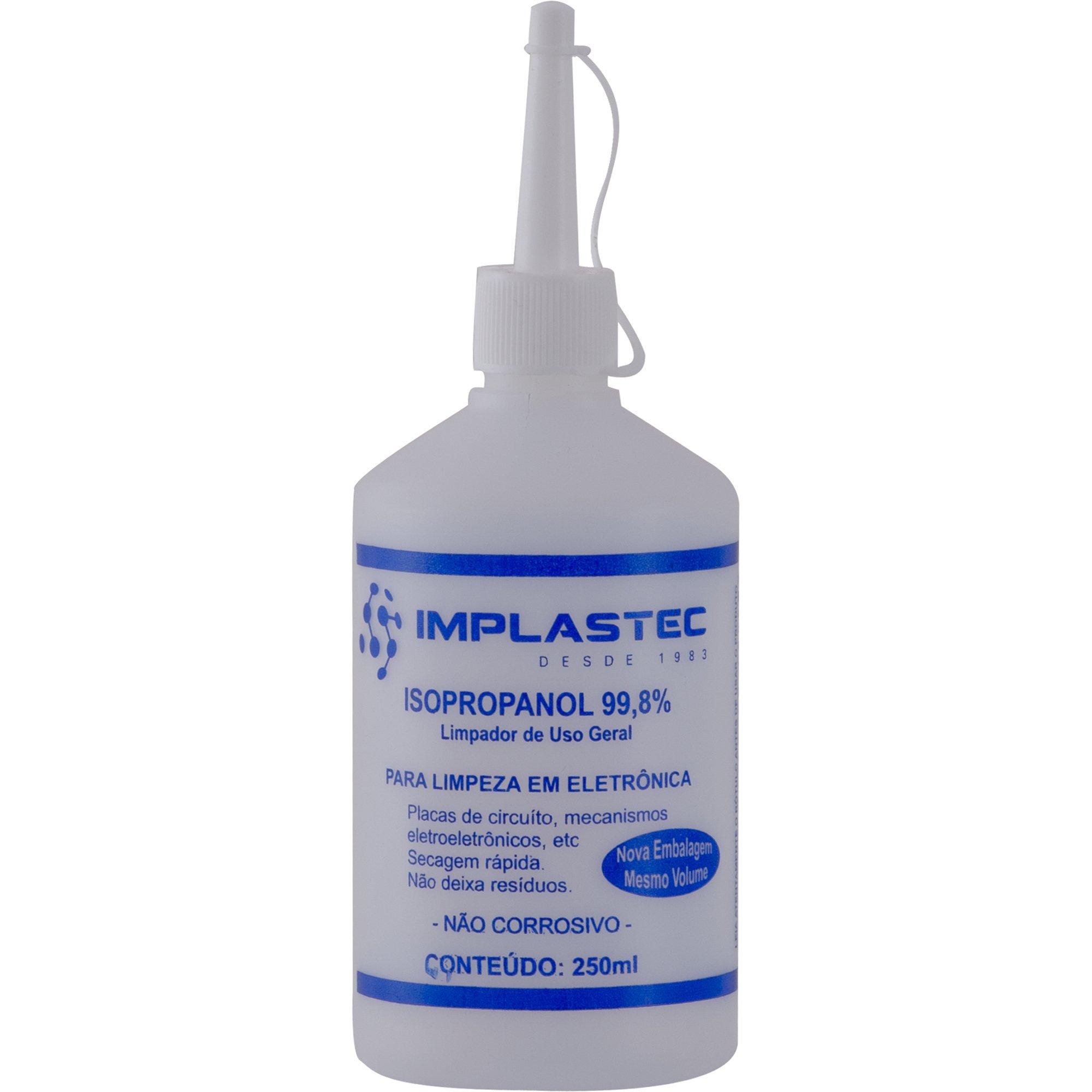 alcool isopropilico apenas 10 disponiveis implastec 250ml isopropanol 24843 2000 191032