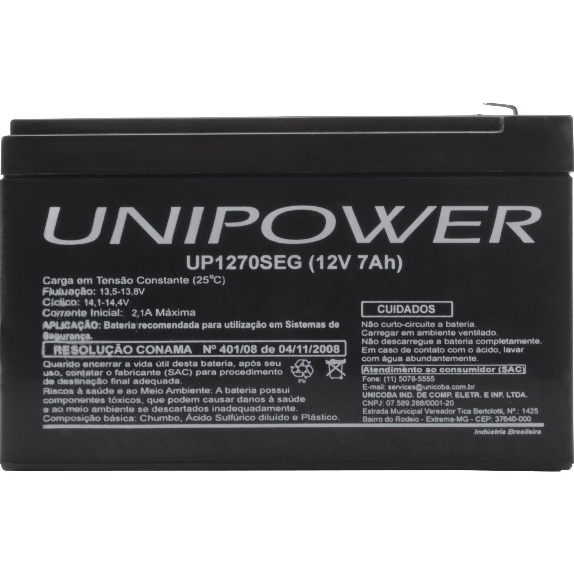 bateria selada especial 63595 unipower rer up1270seg 12v 7a 45015 2000 193282