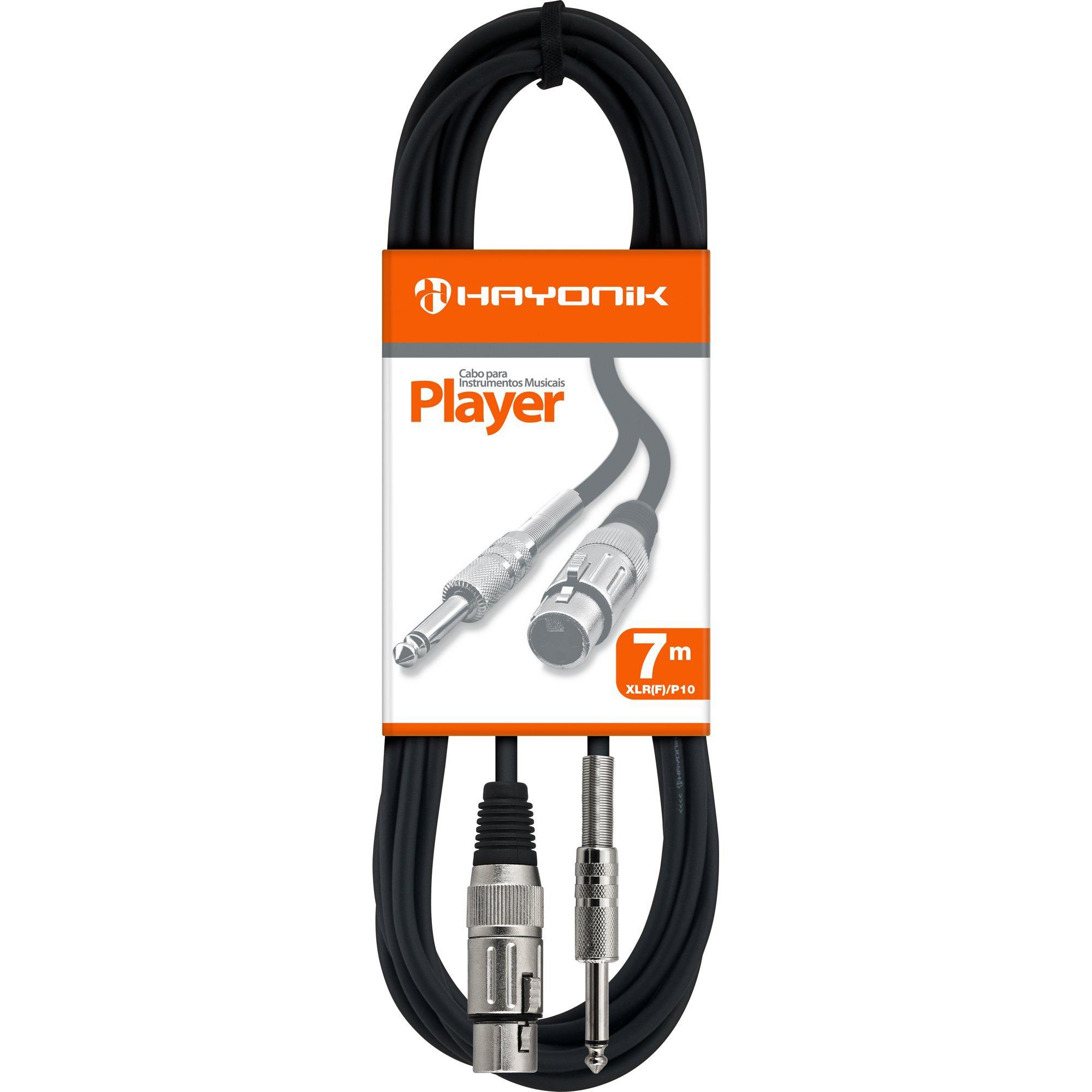 cabo para apenas 10 disponiveis hayonik player preto x p10 7m microfone xlrf 40745 2000 186447