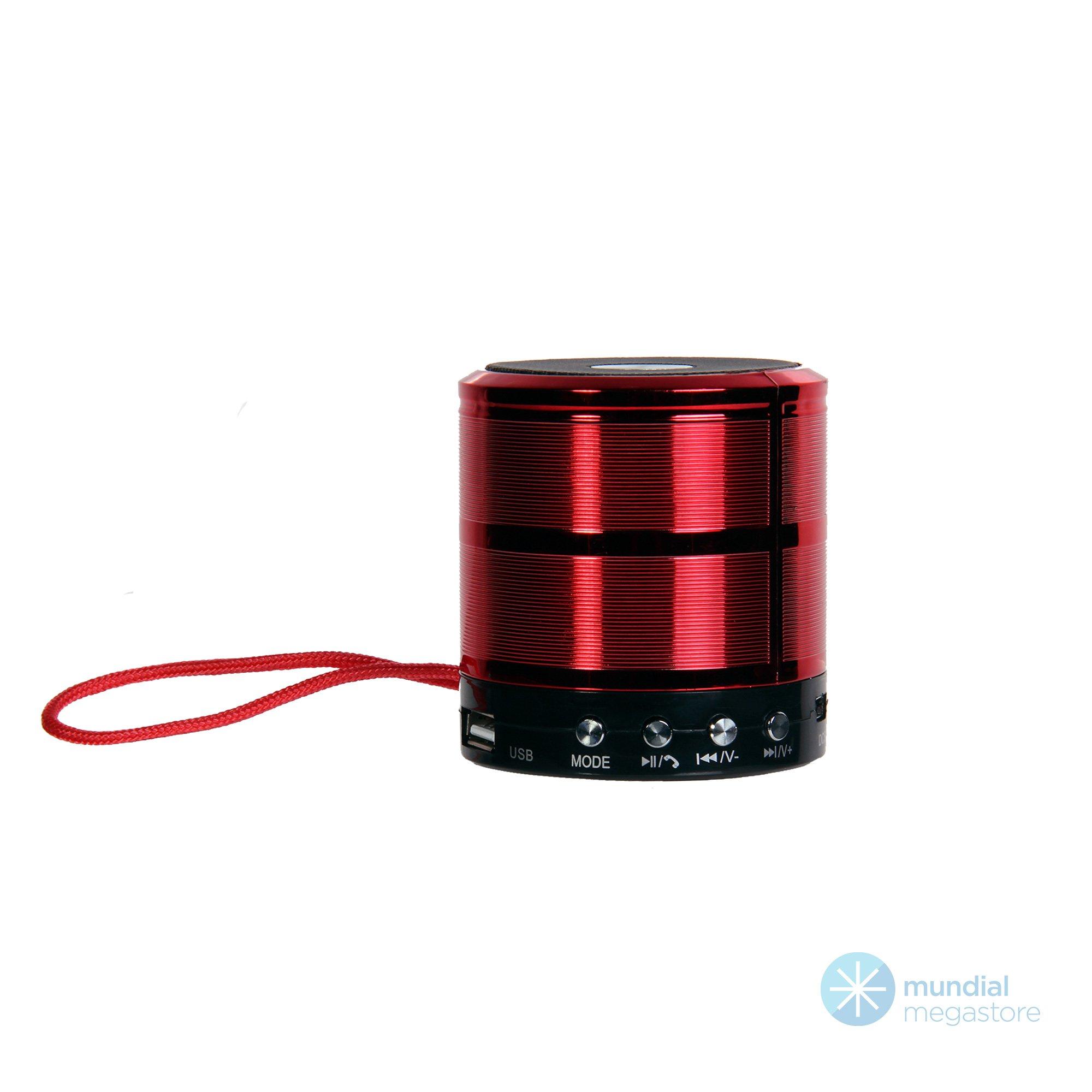 caixa de som bluetooth mini ws 887 vermelha 36502 2000 196069