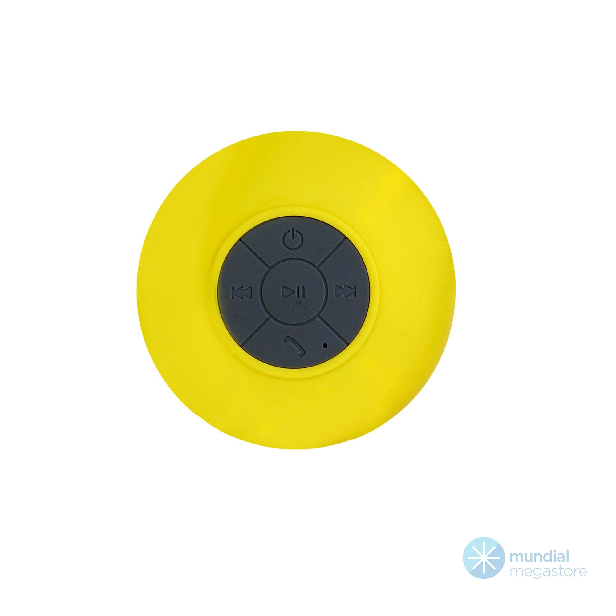 caixa de som mini bluetooth portatil banheiro bts 06 amarela 44820 2000 196062