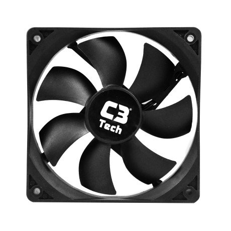 cooler 12x12 f7 100 preto storm 12cm led c3 tech 44894 2000 193187