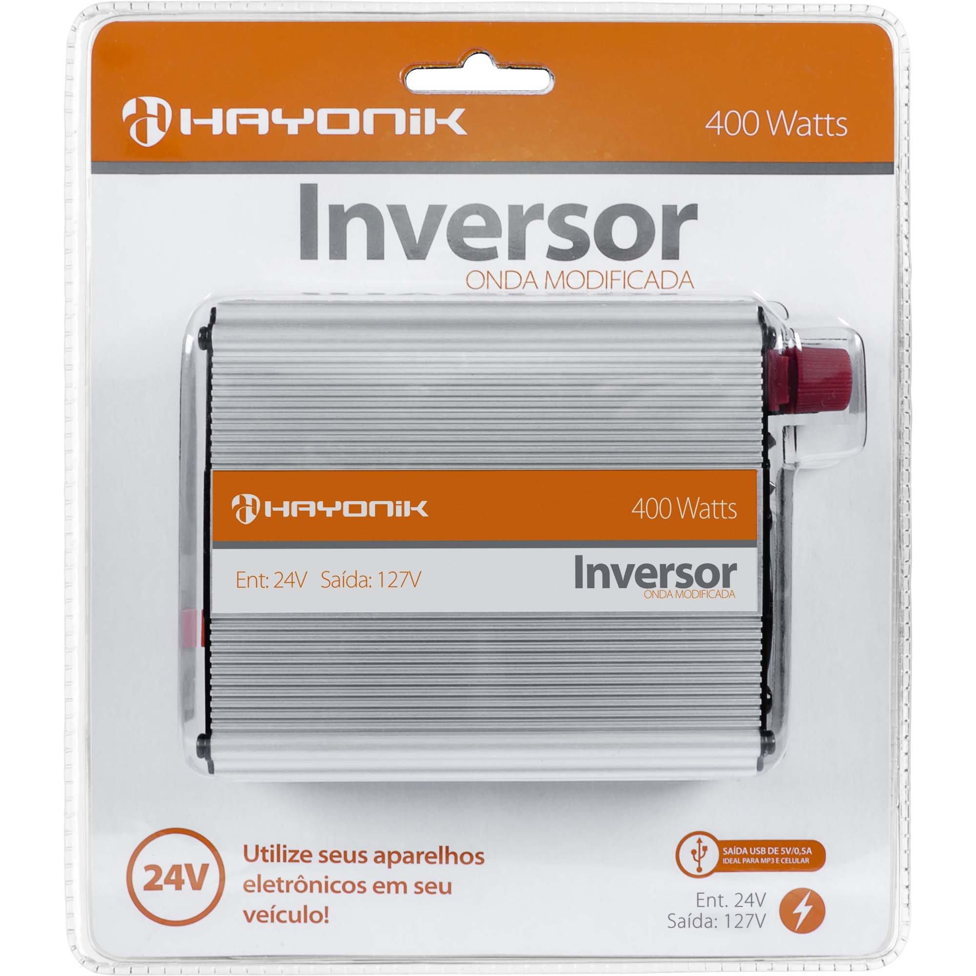 inversor onda desfrutando hayonik usb 400w modificada 24vdc 127v 40465 2000 186995