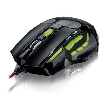 mouse usb gamer 2000dpi mo208 led verde multilaser 33958 2000 172985