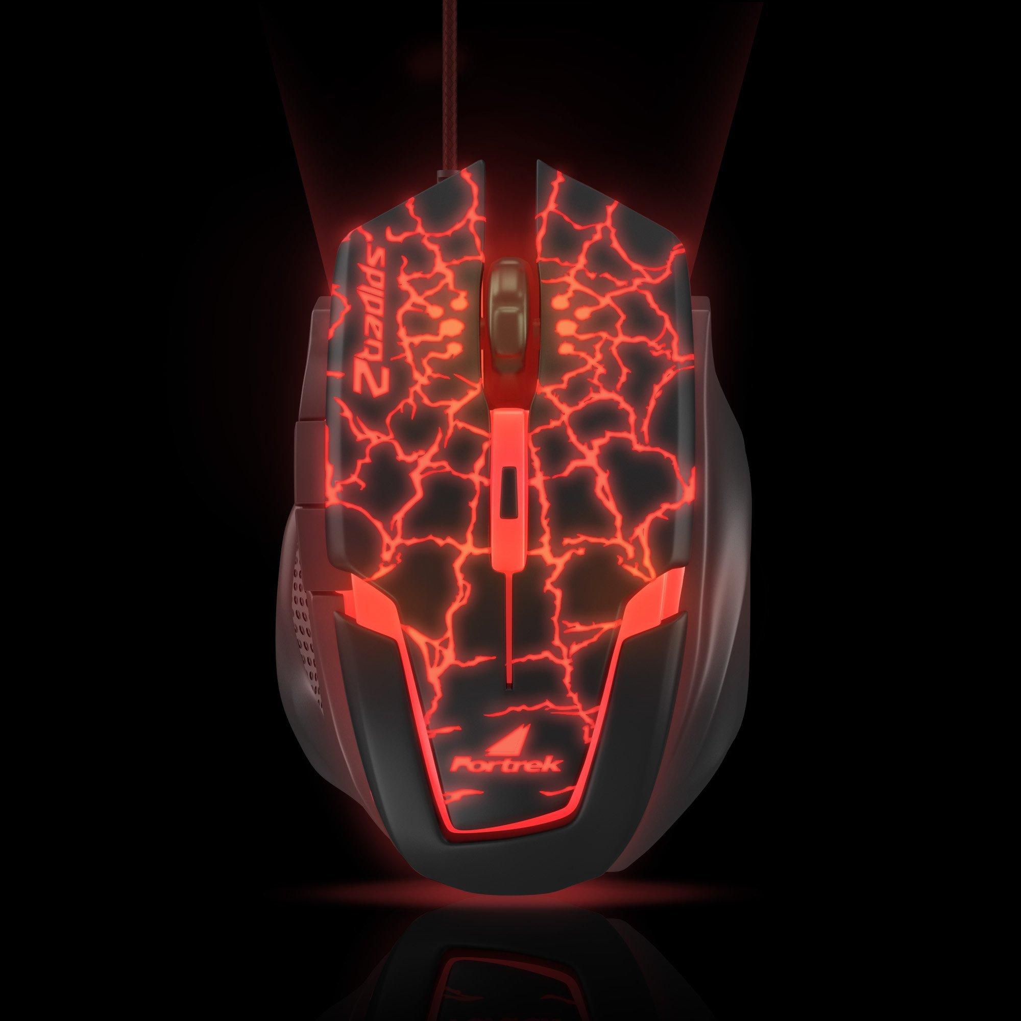 mouse usb gamer oferta quente preto vermelho fortrek 2 om 705 3200dpi spider 42929 2000 181183