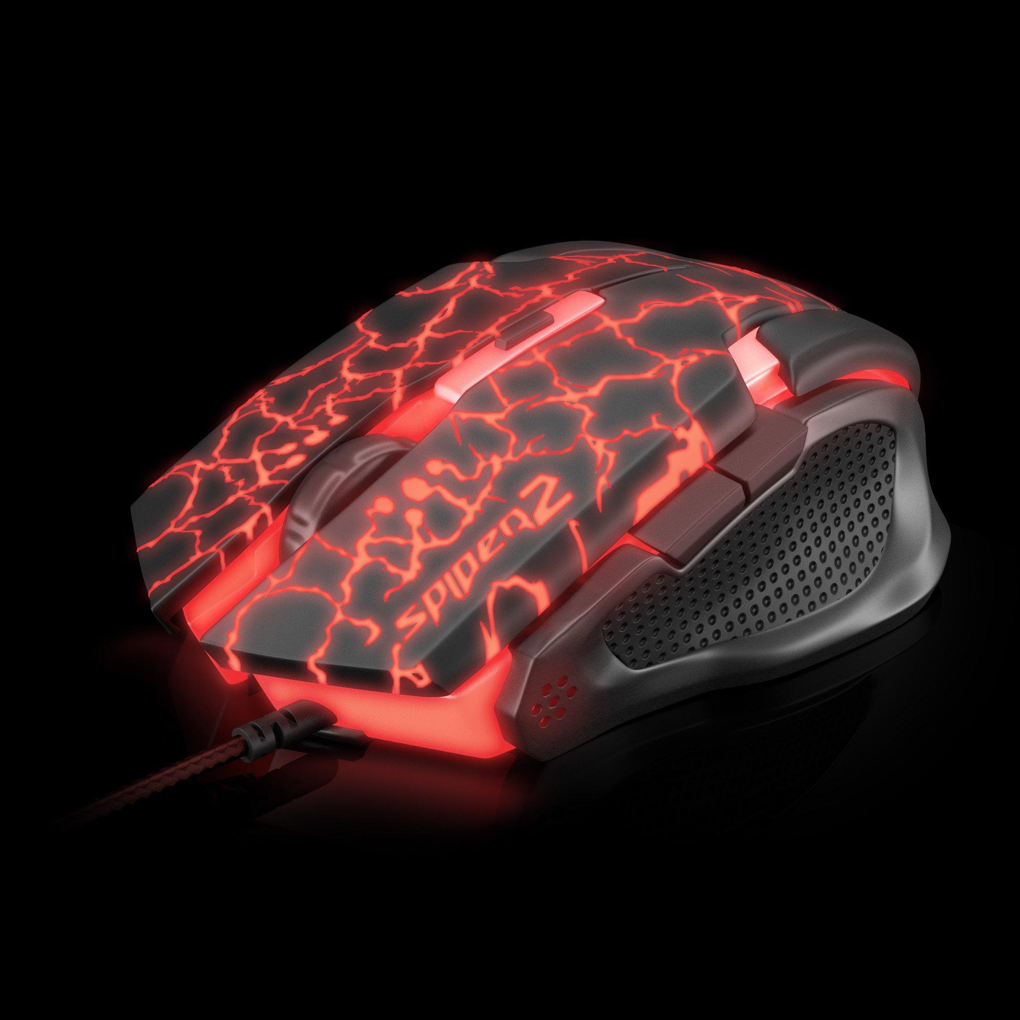 mouse usb gamer oferta quente preto vermelho fortrek 2 om 705 3200dpi spider 42929 2000 181185