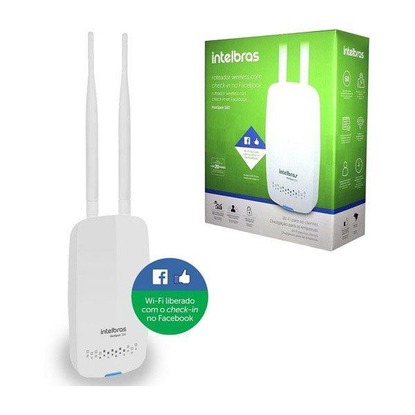 roteador intelbras router 300mbps hotspot 2 antena 37830 2000 201513