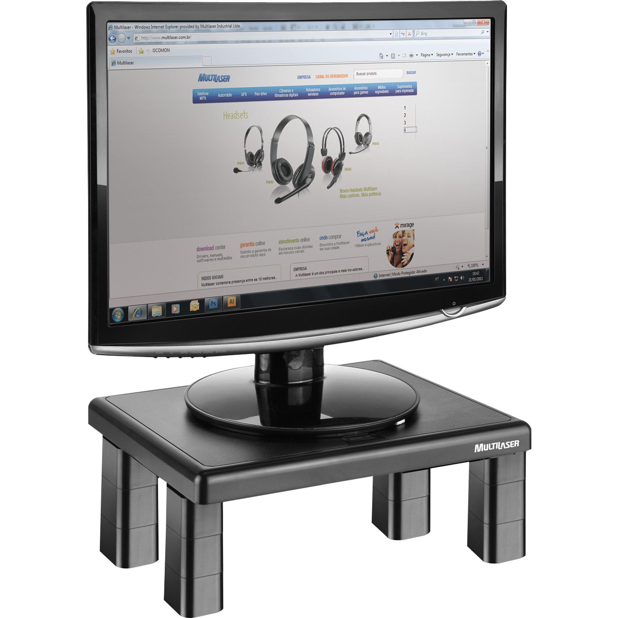suporte quadrado notavel multilaser ac125 preto para monitor 31578 2000 160561