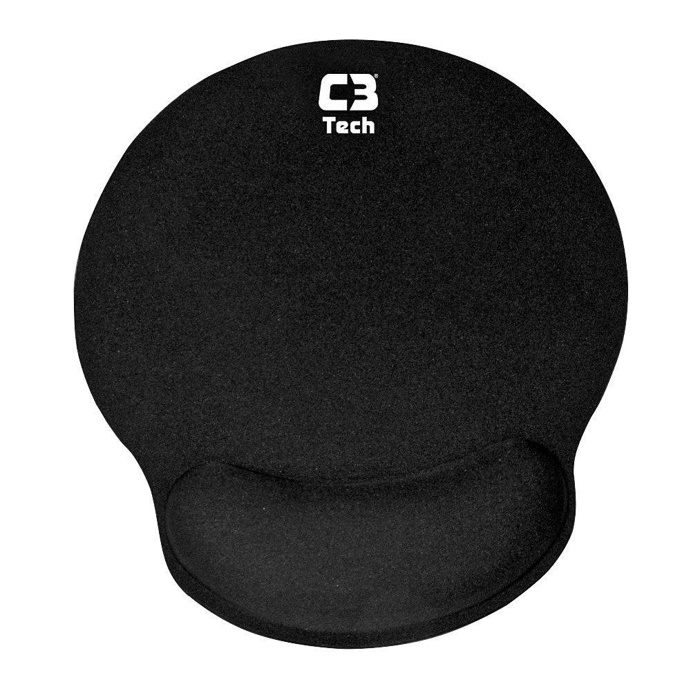 mouse pad com apoio em gel mp 100 c3tech preto 37775 2000 199306