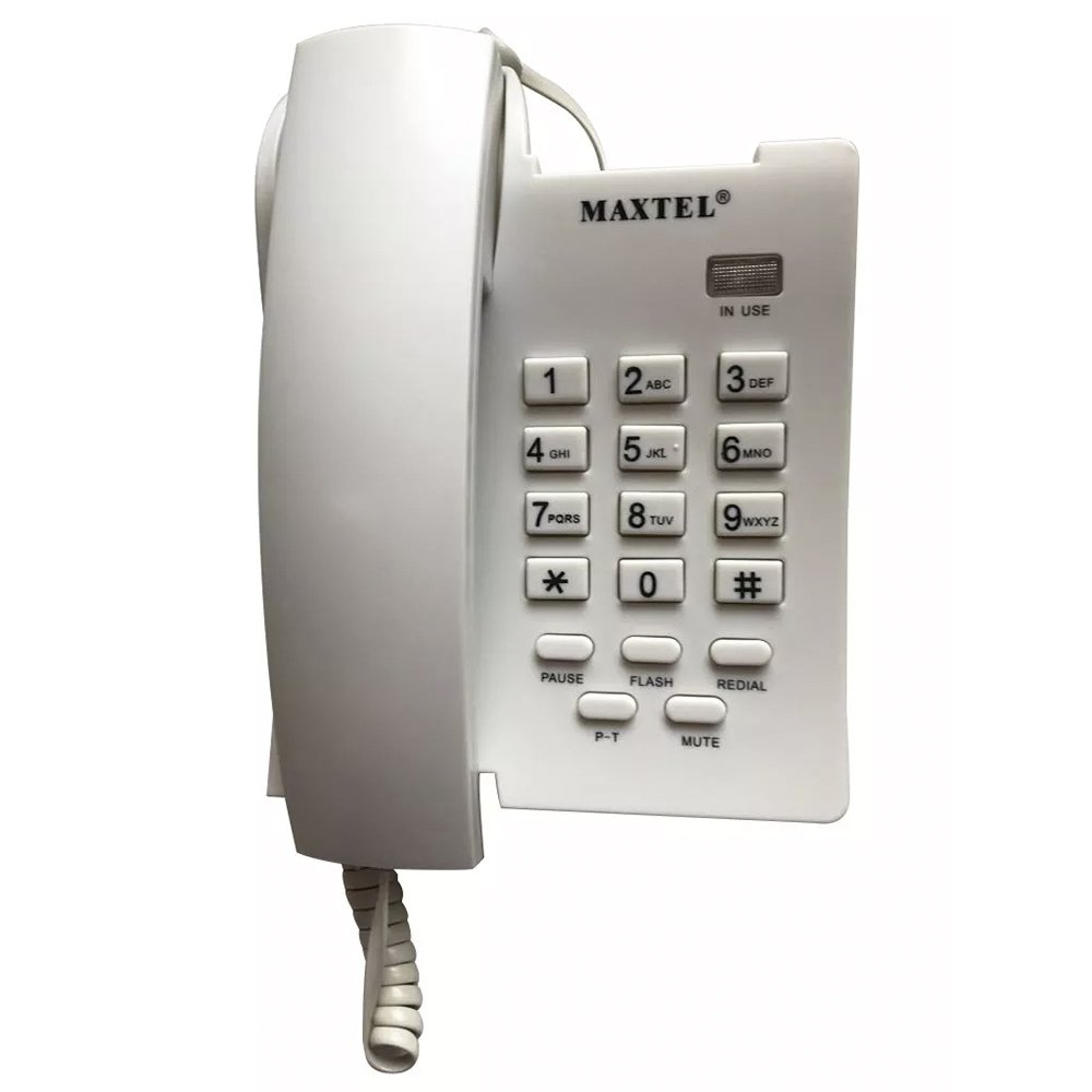 telefone de mesa maxtel 3037 branco 37119 2000 197042
