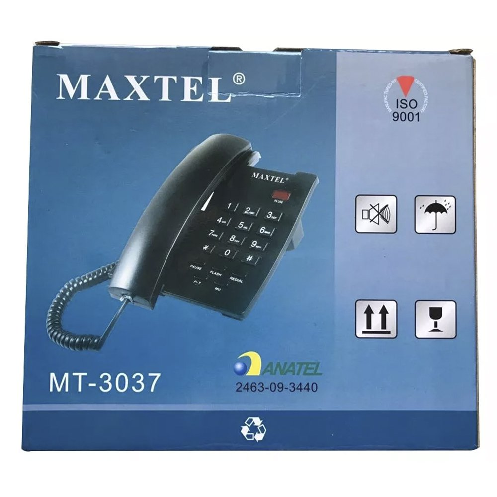 telefone de mesa maxtel 3037 branco 37119 2000 197043