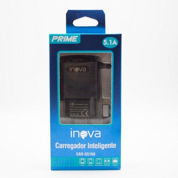 carregador rapido de celular v8 tomada inova g5168 51 preto 46777 2000 201993