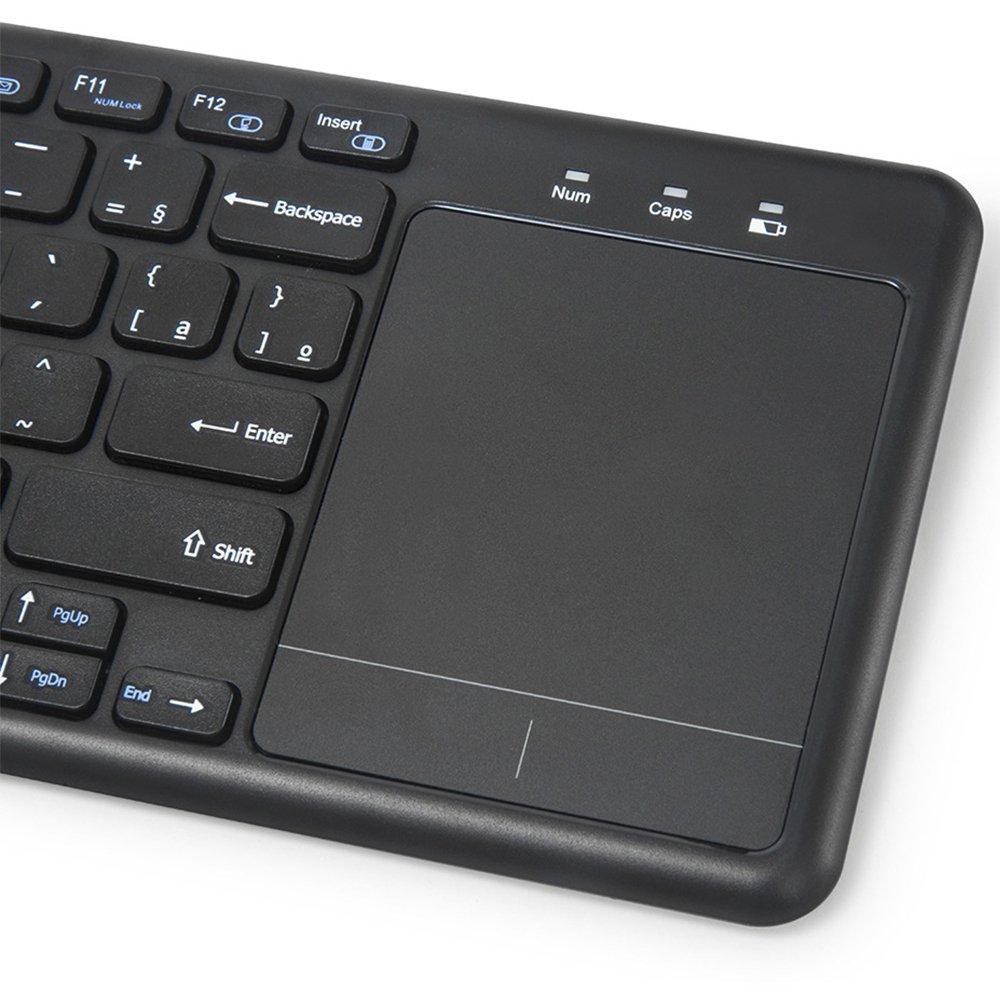 teclado sem fio com mouse touch kwt100bk c3tech 46779 2000 197372