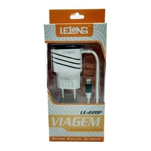 carregador rapido de celular iphone tomada lelong preto 47004 2000 200922