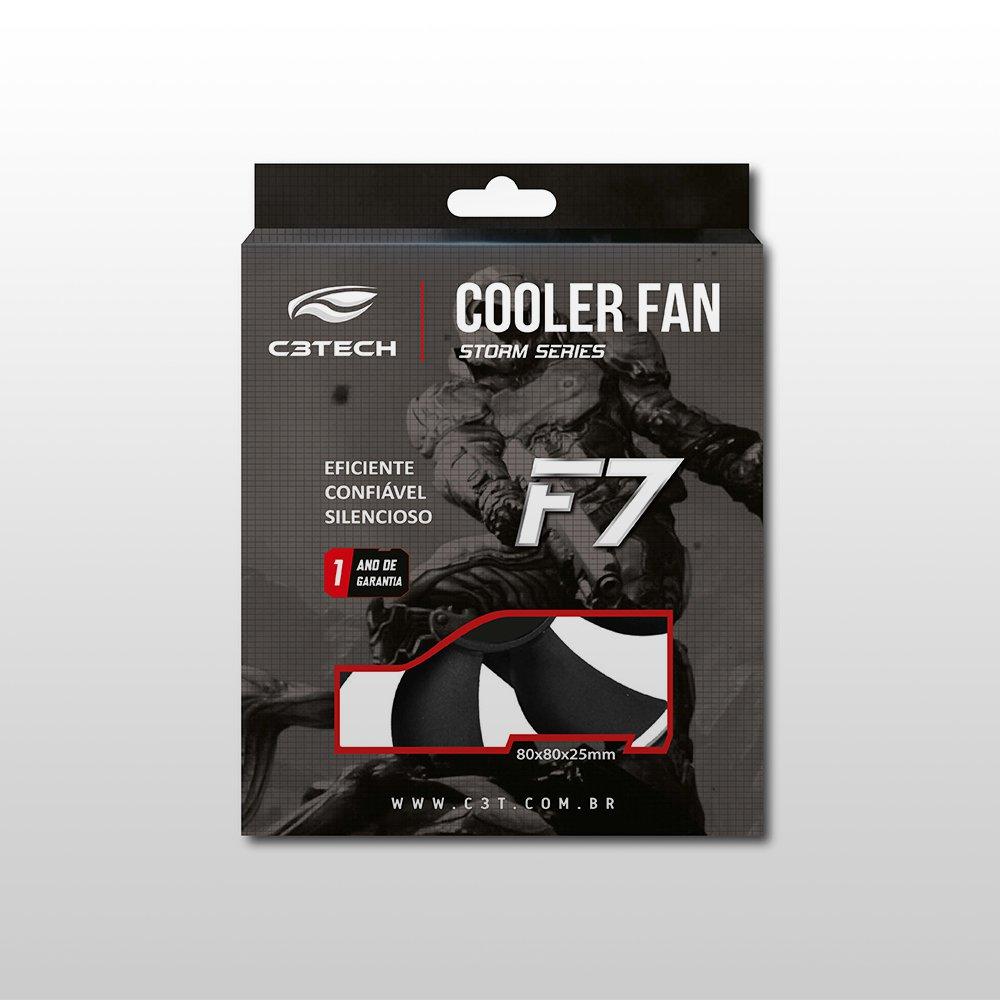 cooler 80x80 f7 50 bk storm 8cm led c3 tech 48766 2000 199566