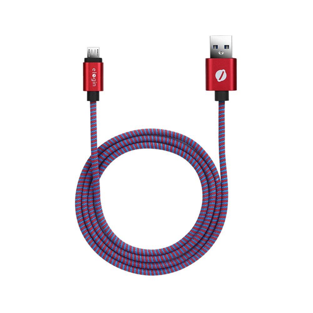 cabo celular usb 20 tipo v8 elogin ct02 vermelho 49360 2000 200169