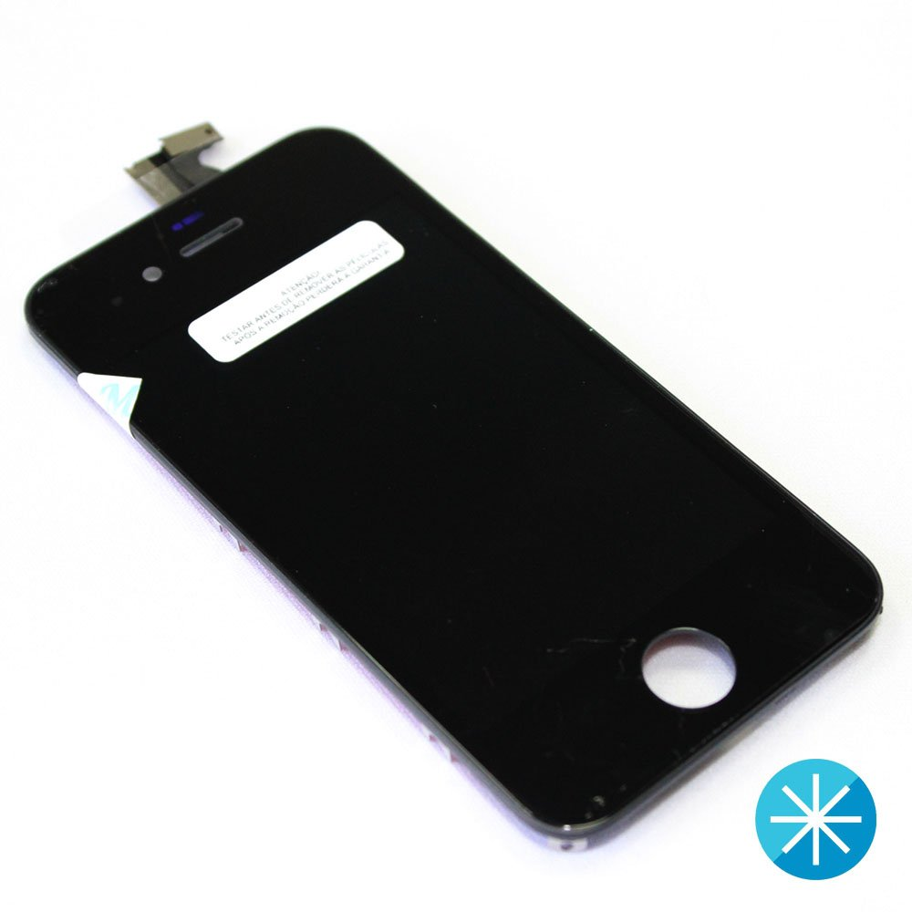 frontal completo celular iphone 4g preto 36809 2000 178269