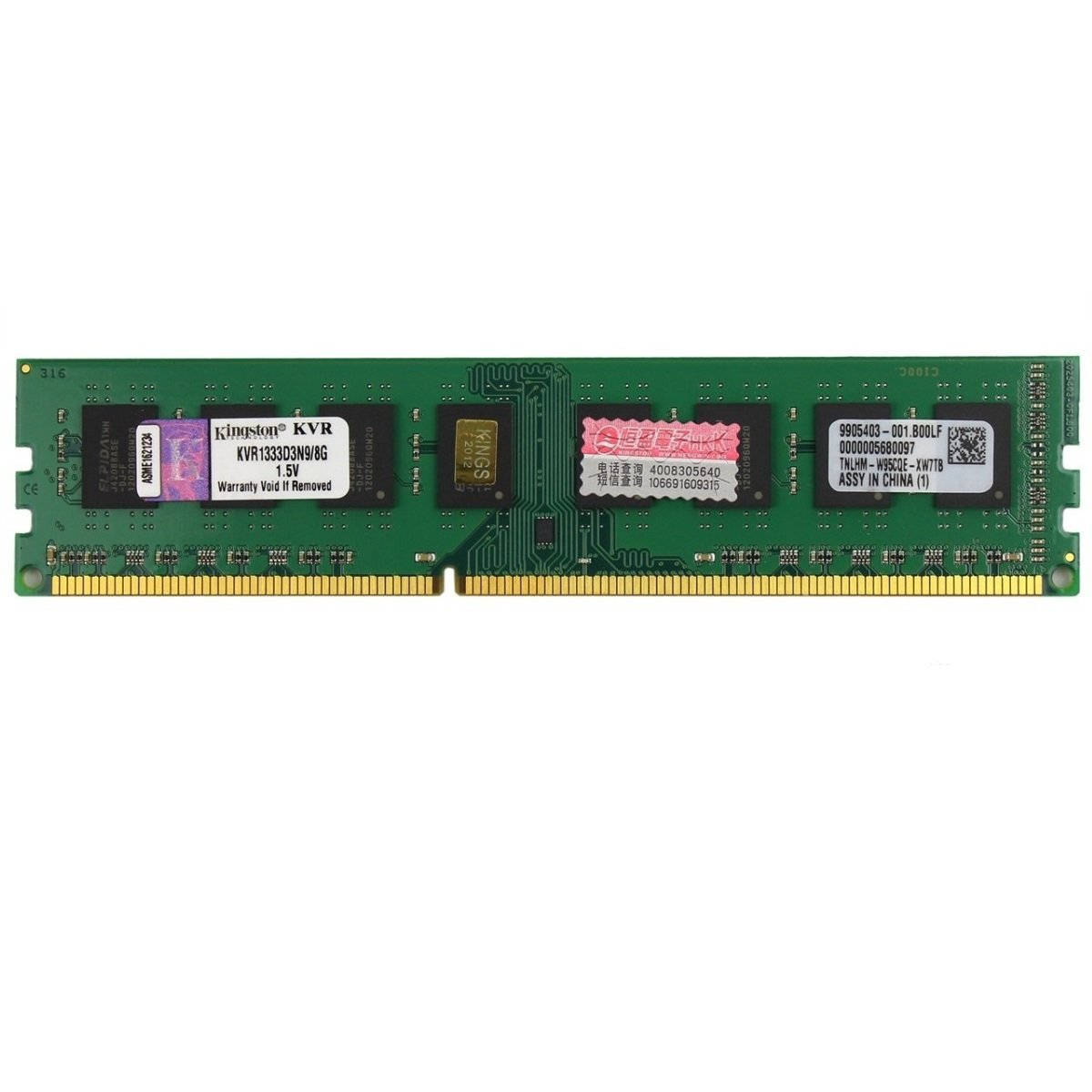 memoria ddr3 8gb pc1333 kingston kvr1333d3n9 8g 6996 2000 200465