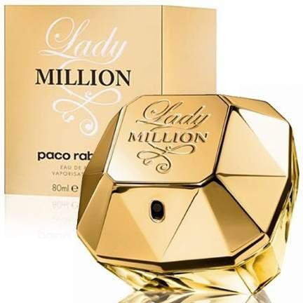 perfume paco rabanne lady million feminino edt 80ml 6149 2000 42934