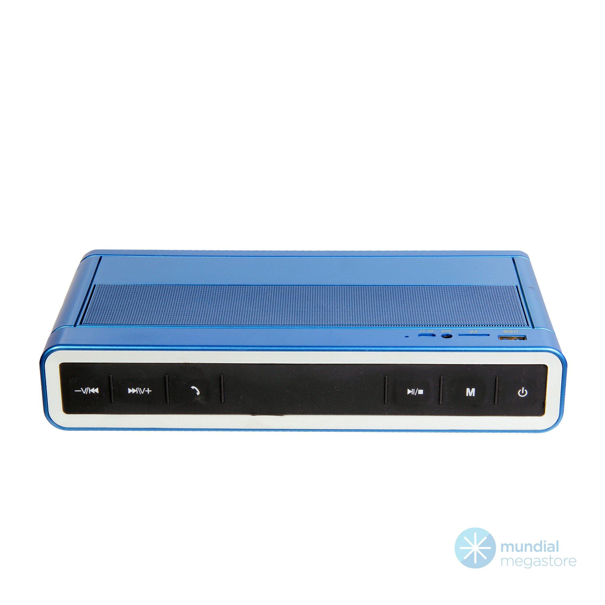 radio caixa de som bluetooth ecopower ep 3828 fm usb sd azul 46061 2000 196226