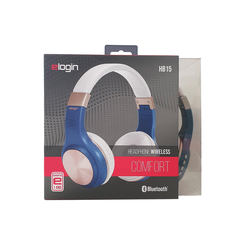 fone de ouvido bluetooth sem fio confort elogin hb15 azul 49721 2000 200851