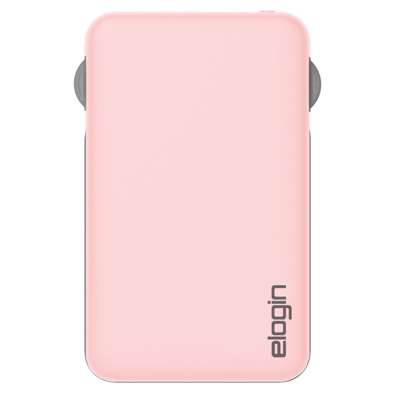 carregador portatil 5000mah elogin pb10 rosa 49743 2000 200840