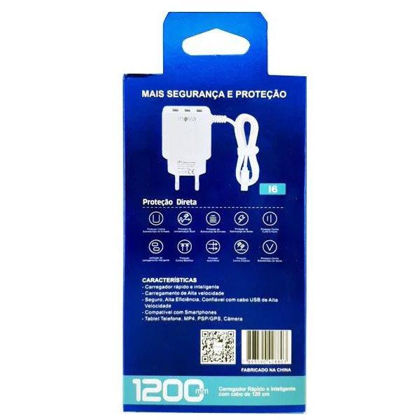 carregador rapido de celular iphone tomada inova azul 49662 2000 201988 2