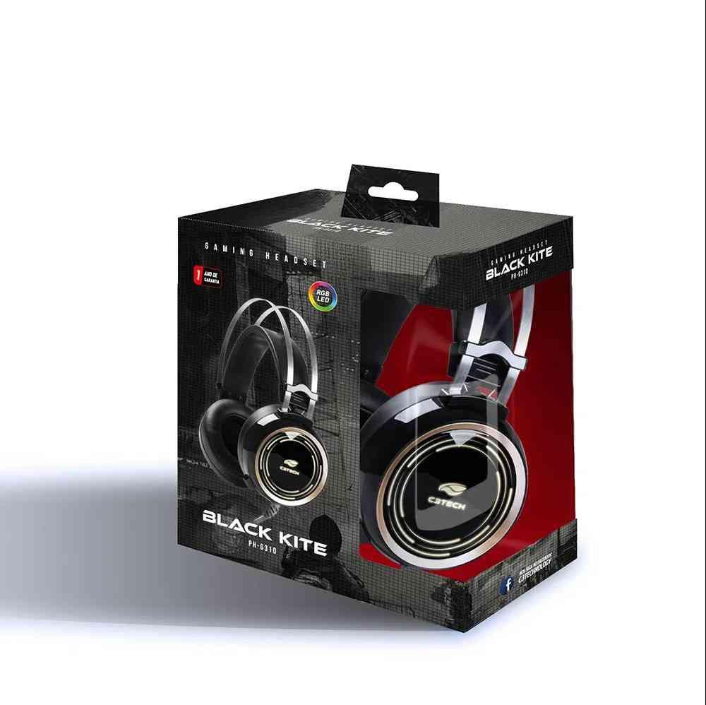 fone de ouvido com microfone gamer black kite ph g310bk c3 tech 49999 2000 201245