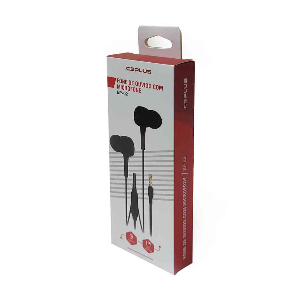 fone de ouvido intra auricular ep 02bk c3plus 49953 2000 201294