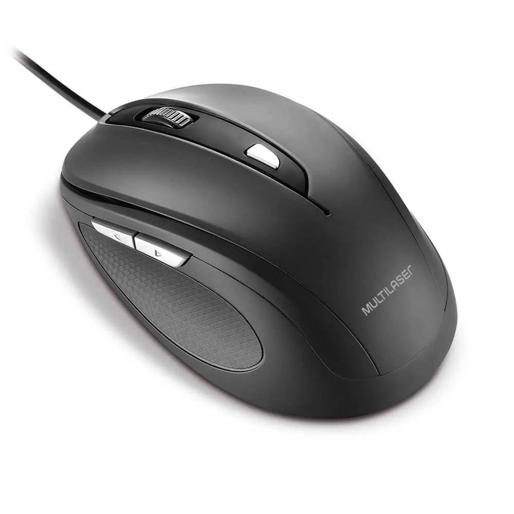 mouse usb confort 2400dpi mo241 6 botoes led multilaser 50016 2000 201360