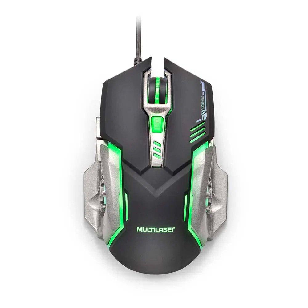 mouse usb gamer 2400dpi mo269 preto e cinza multilaser 49987 2000 201222