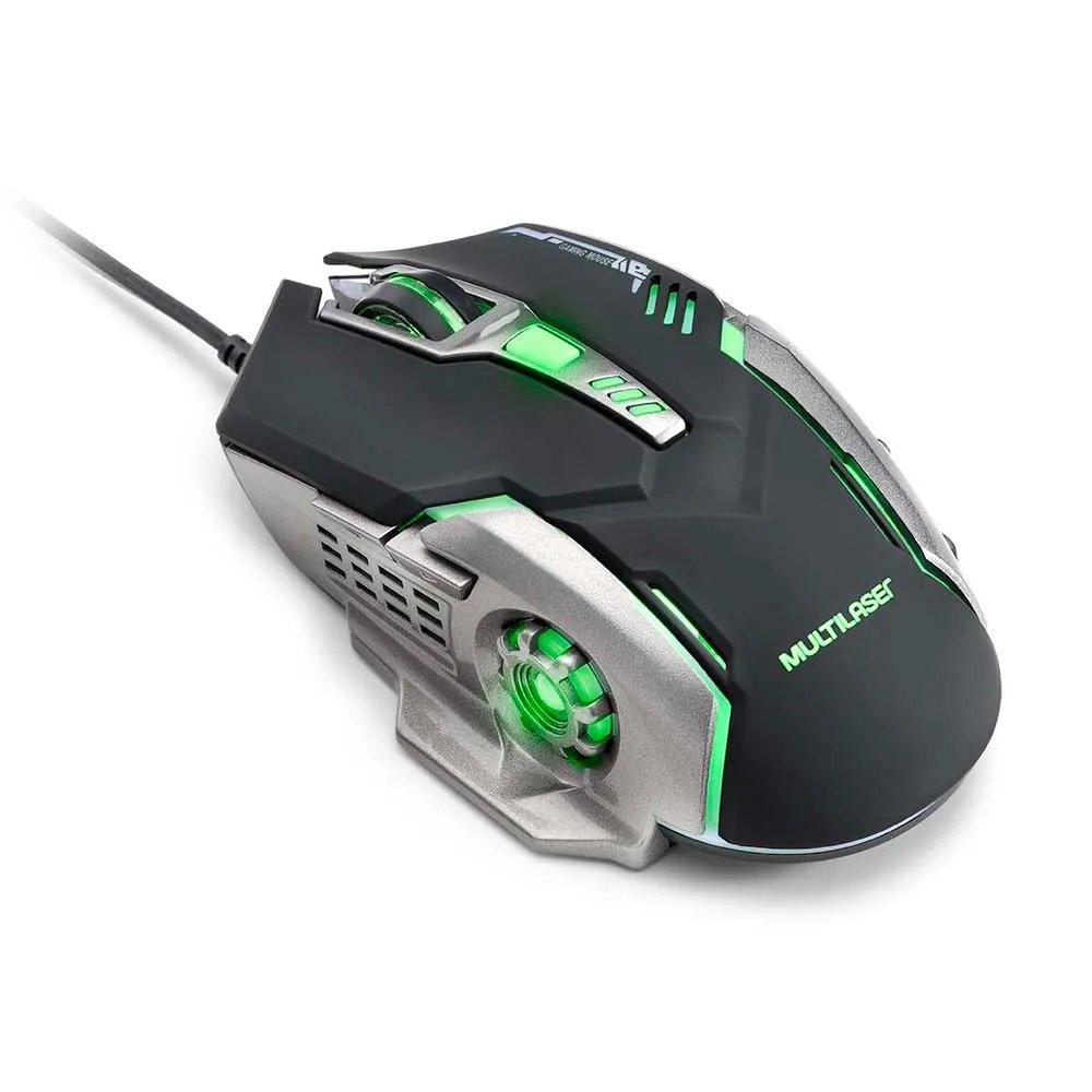 mouse usb gamer 2400dpi mo269 preto e cinza multilaser 49987 2000 201223