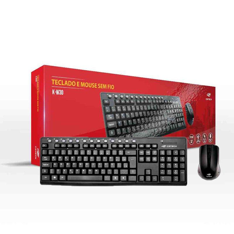 teclado e mouse sem fio c3 tech k w30bk preto 49958 2000 201209