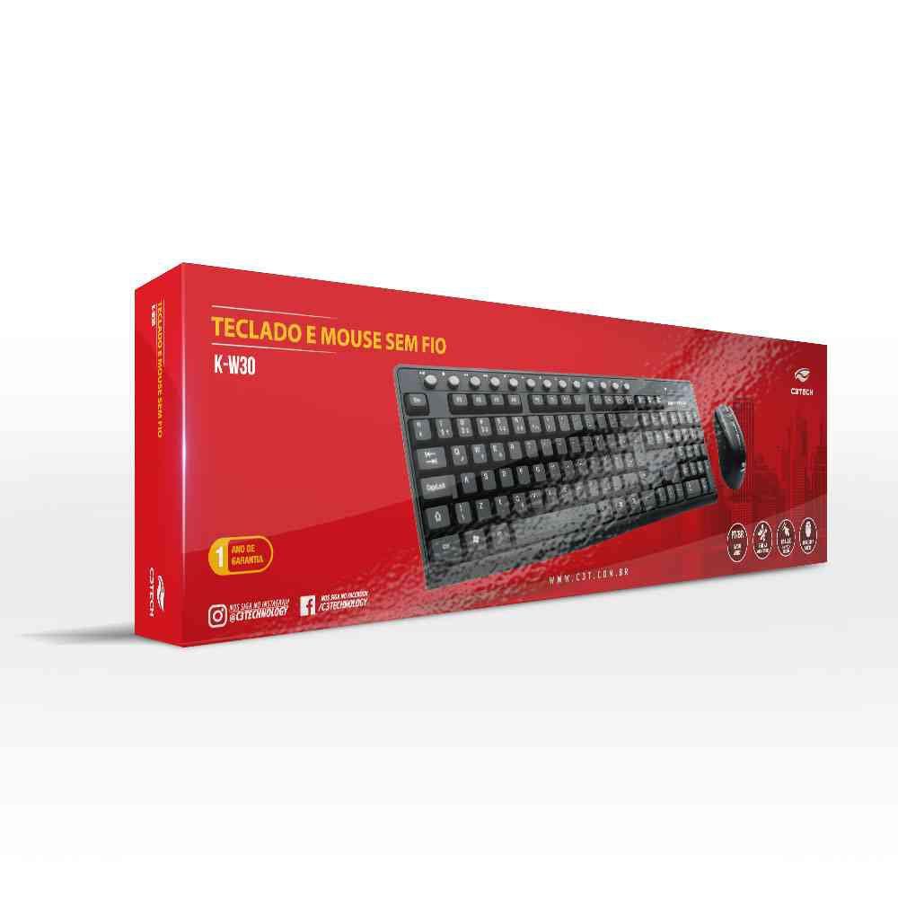 teclado e mouse sem fio c3 tech k w30bk preto 49958 2000 201210