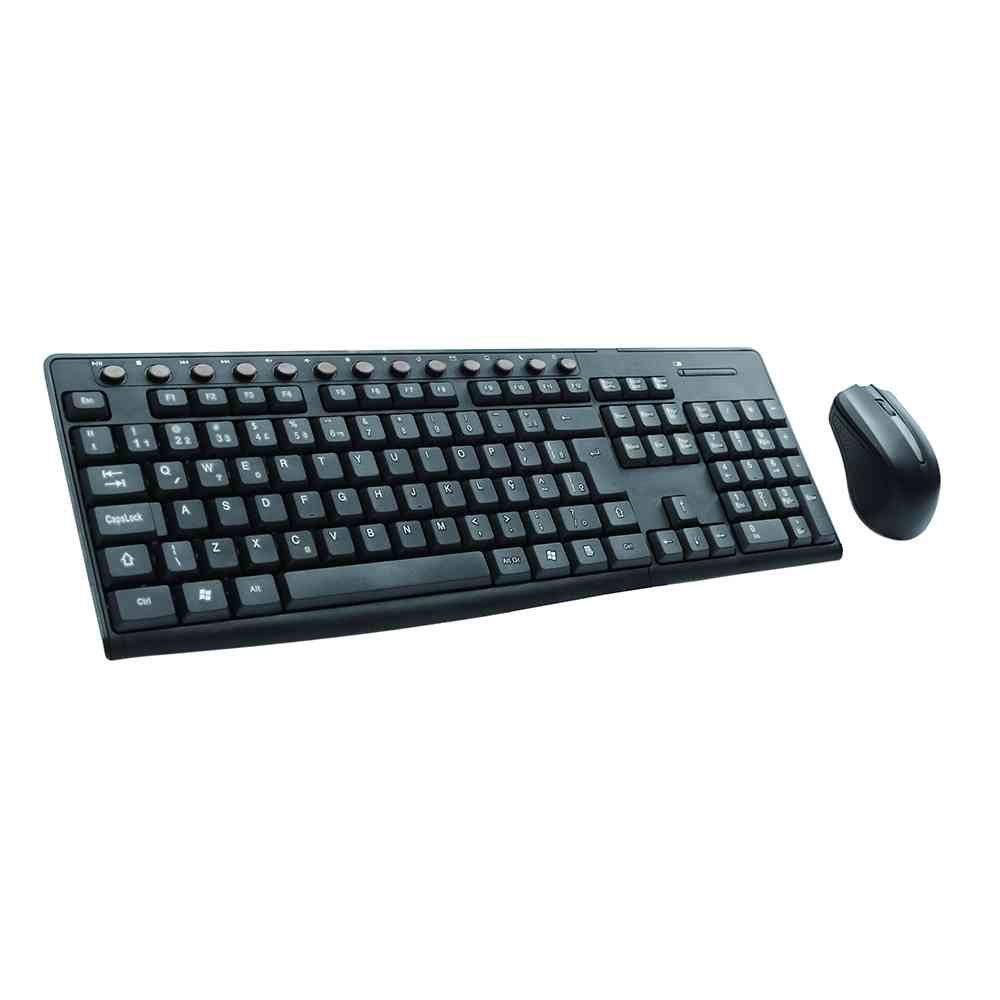 teclado e mouse sem fio c3 tech k w30bk preto 49958 2000 201211