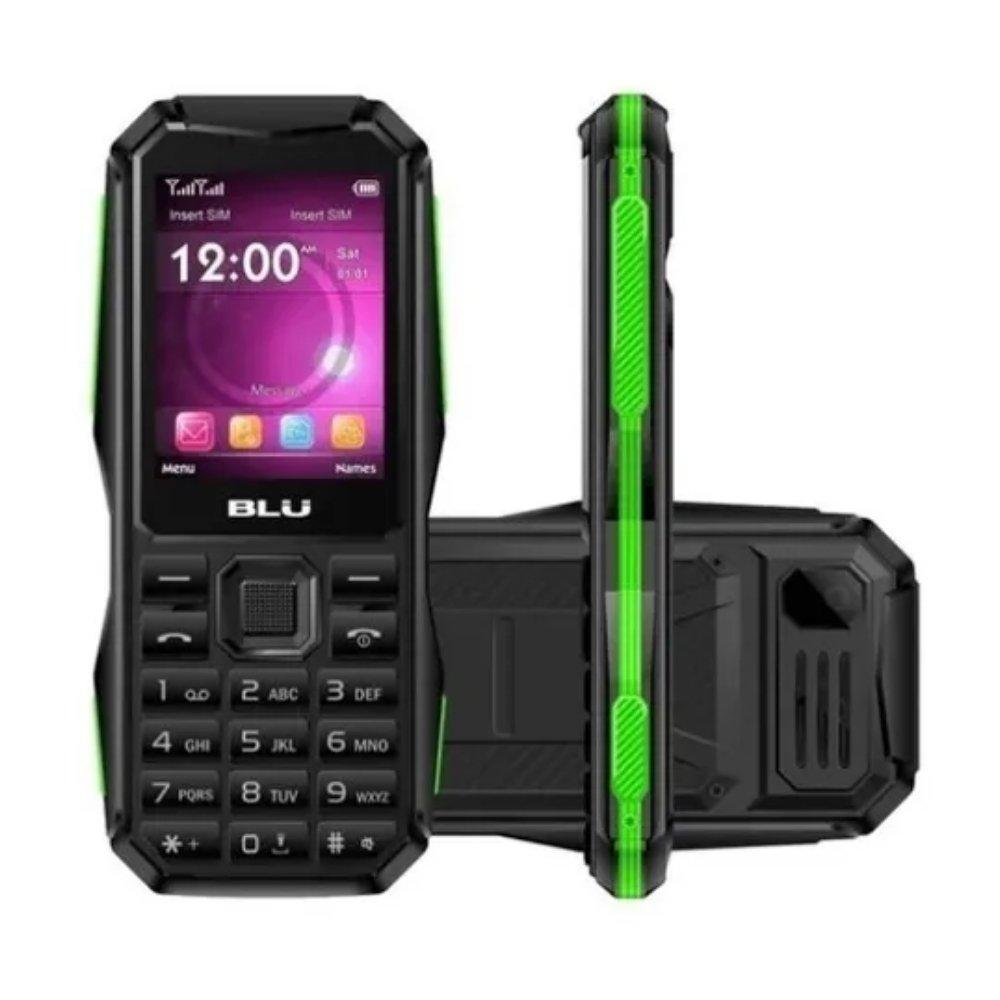 celular blu tank torch 2 chip preto e verde 50140 2000 204126