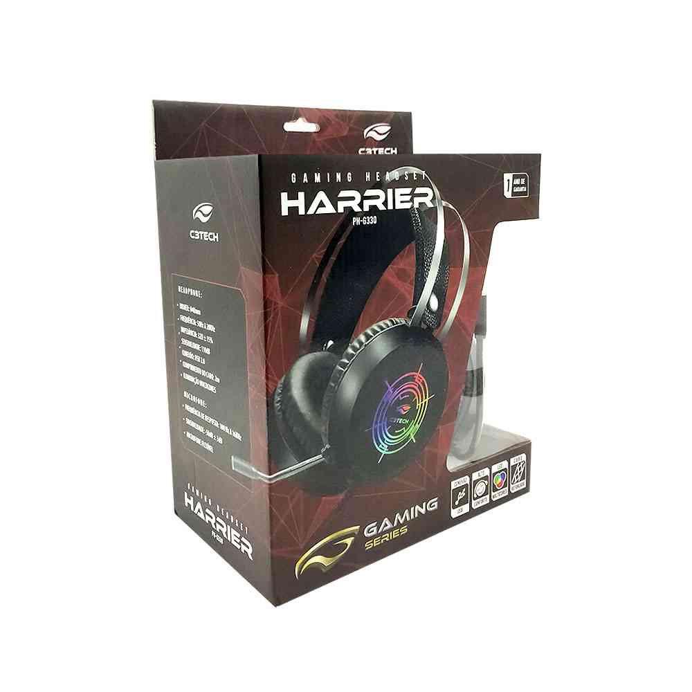 fone de ouvido com microfone gamer harrier ph g330bk c3 tech 50048 2000 201333