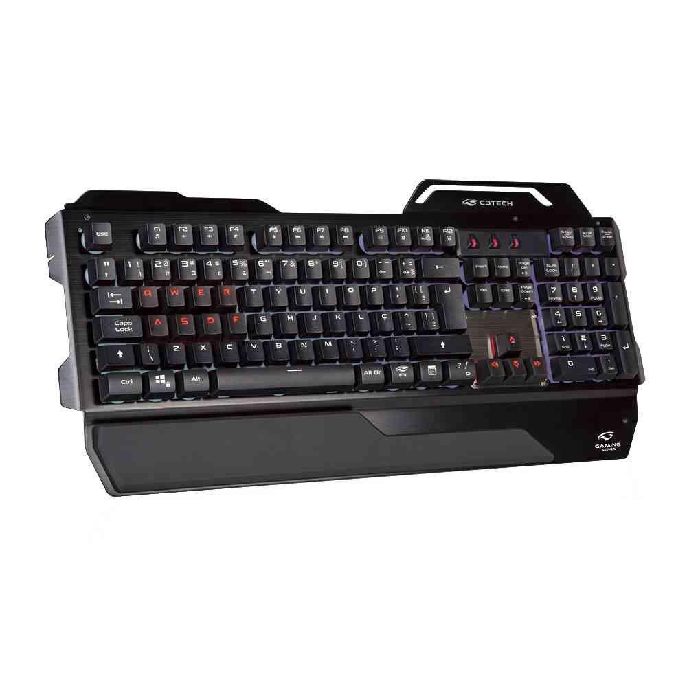 teclado gamer usb kgm 500bk c3tech preto 50165 2000 201572
