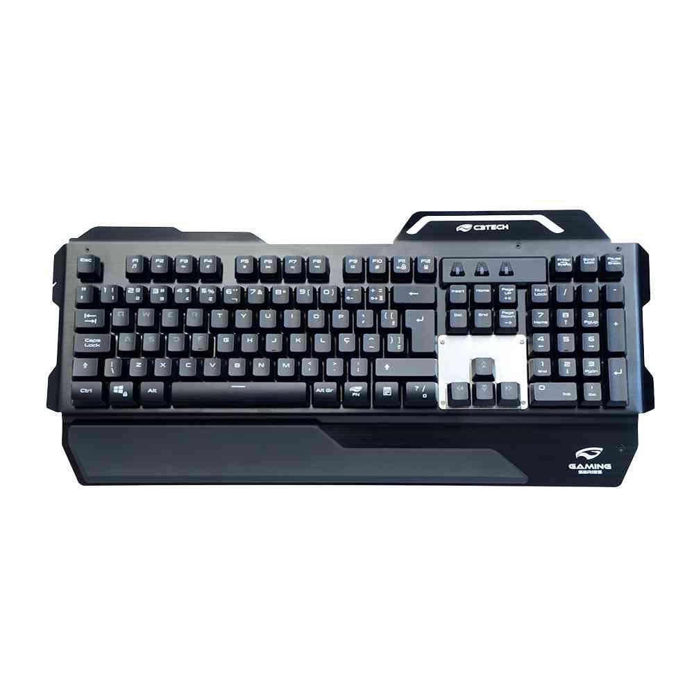 teclado gamer usb kgm 500bk c3tech preto 50165 2000 201573