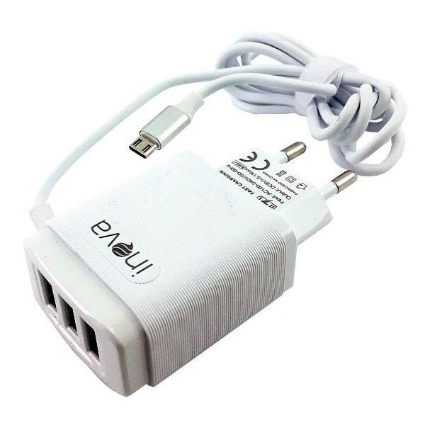 carregador rapido de celular v8 tomada inova g5168 51 branco 50202 2000 201991 3