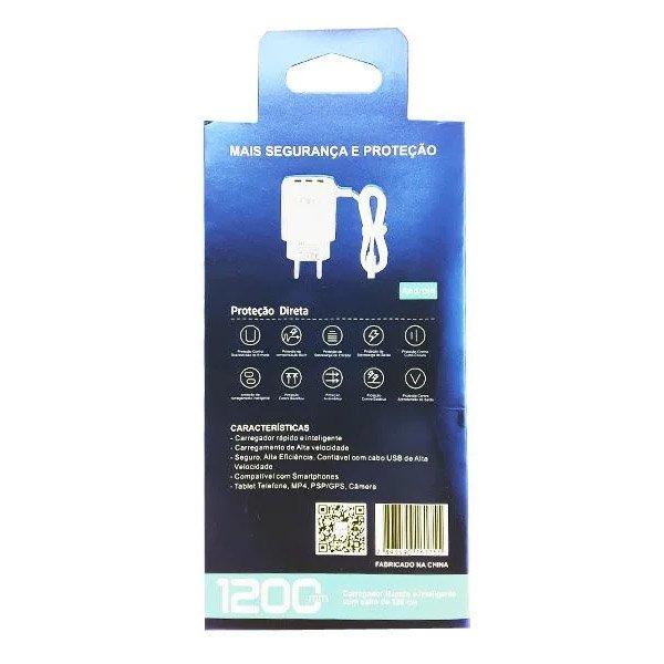 carregador rapido de celular v8 tomada inova g5168 51 branco 50202 2000 201992 2