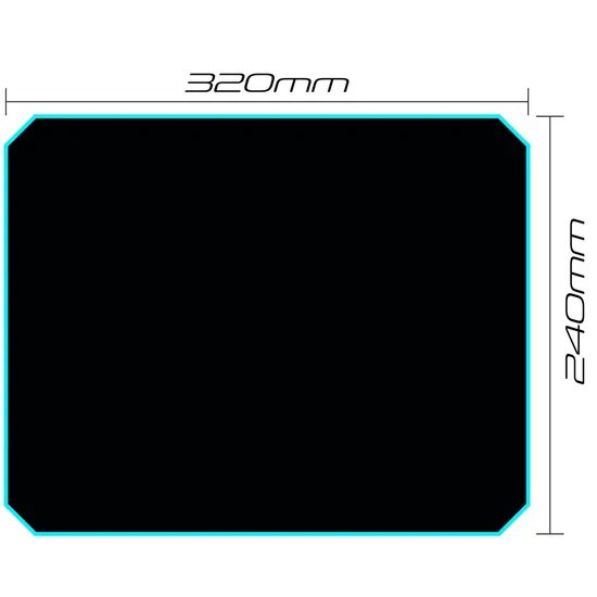 mouse pad gamer apenas 10 disponiveis fortrek mpg101 azul 320x240mm speed 50652 2000 203898