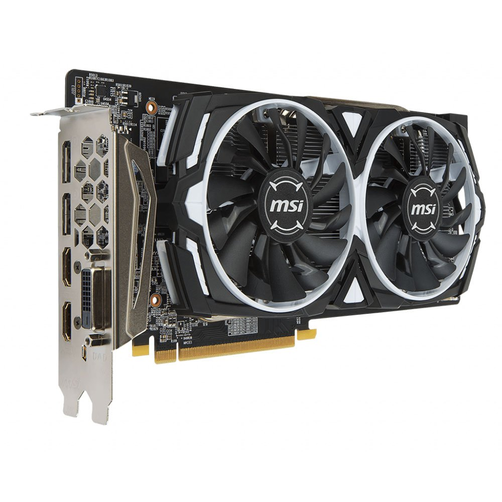 placa de video 8gb rx580 msi armor hdmi dvi disp ddr5 50699 2000 202442