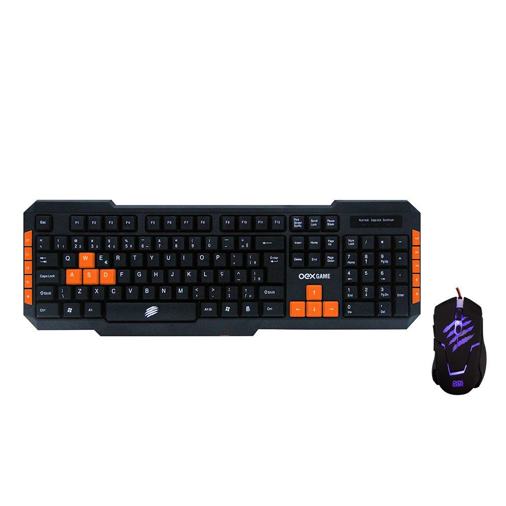 teclado e mouse gamer brave tm 303 oex preto laranja 50672 2000 202229