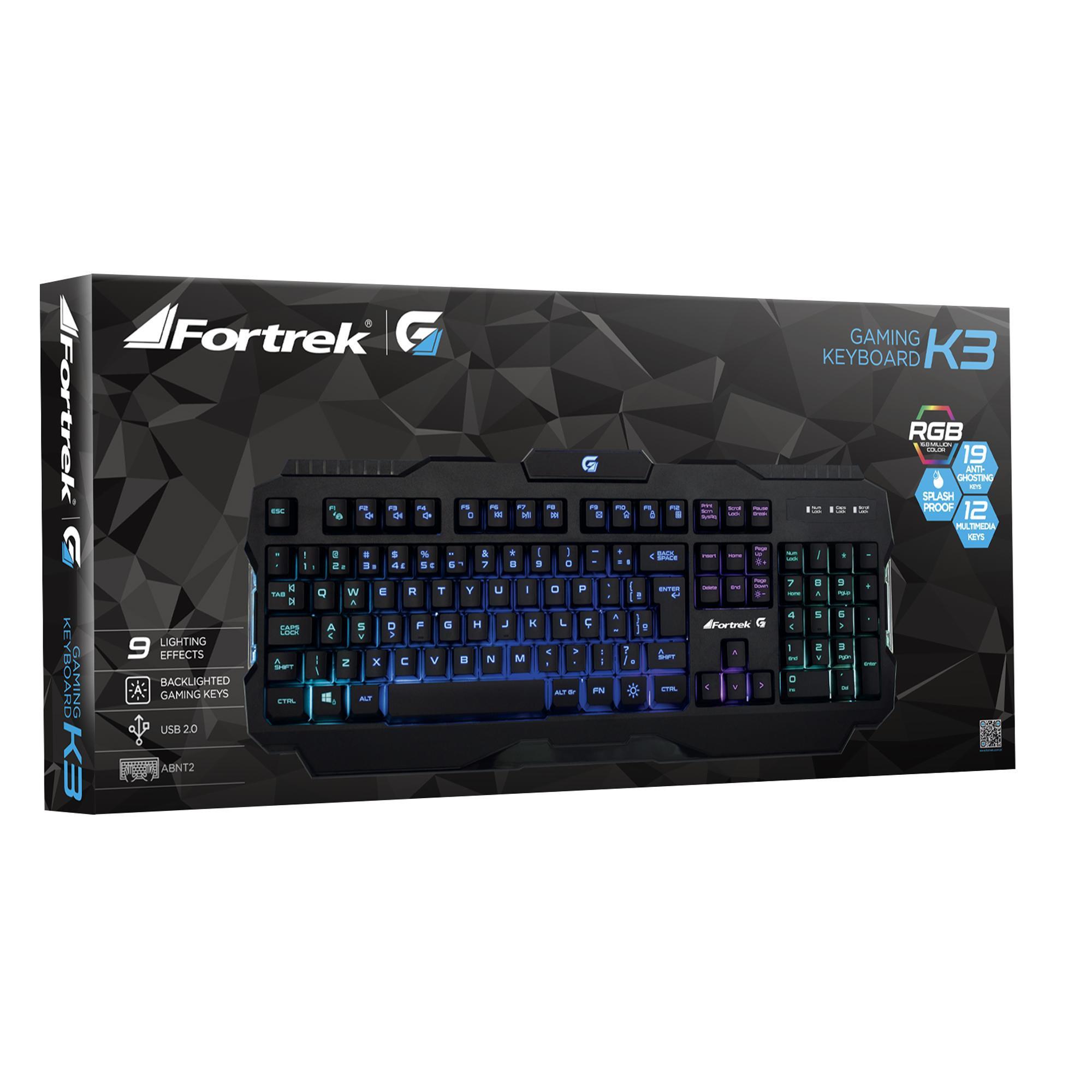 teclado gamer exclusivo fortrek rgb preto usb pro k3 47134 2000 196923 1
