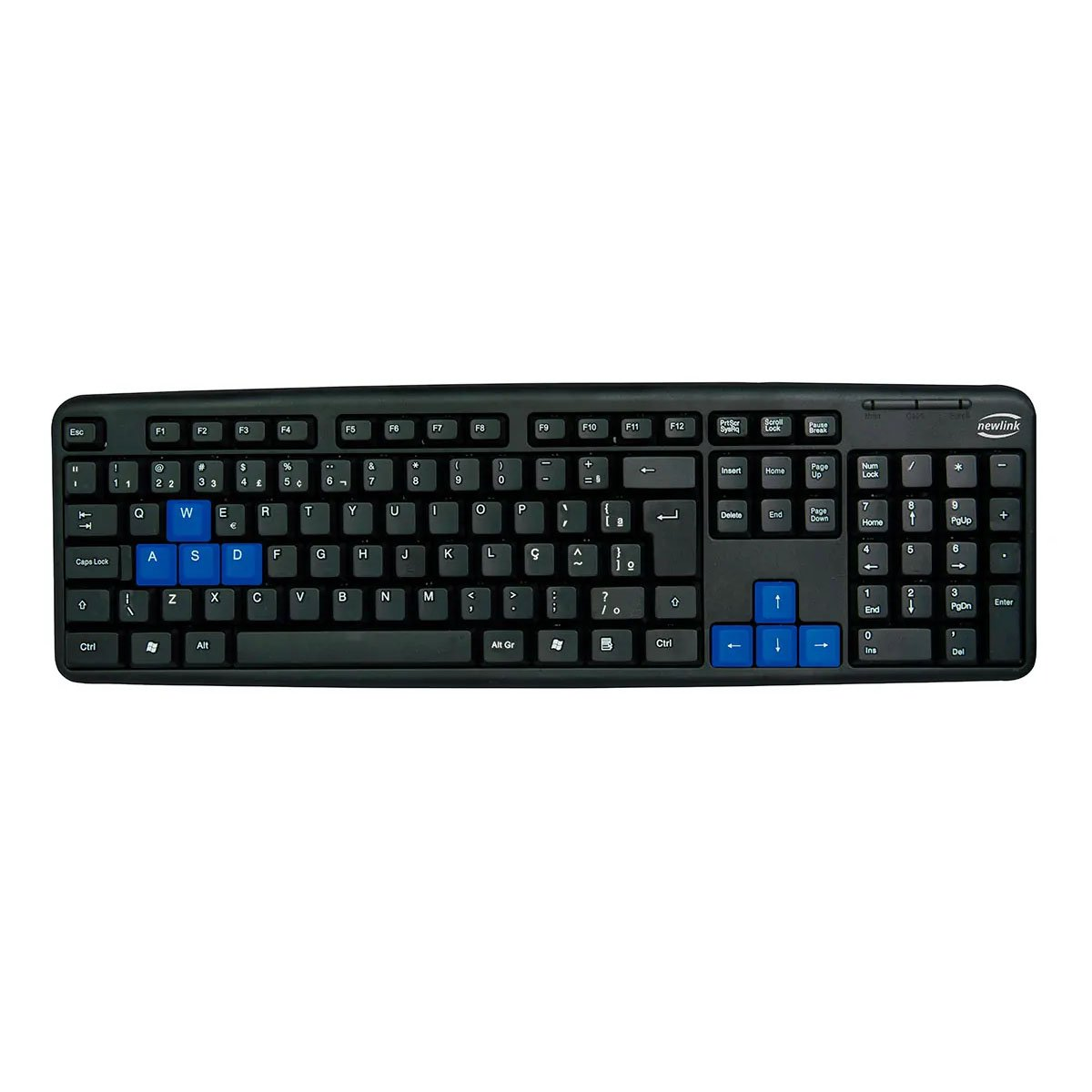 teclado usb newlink level tc 308 preto azul 50670 2000 202224 1