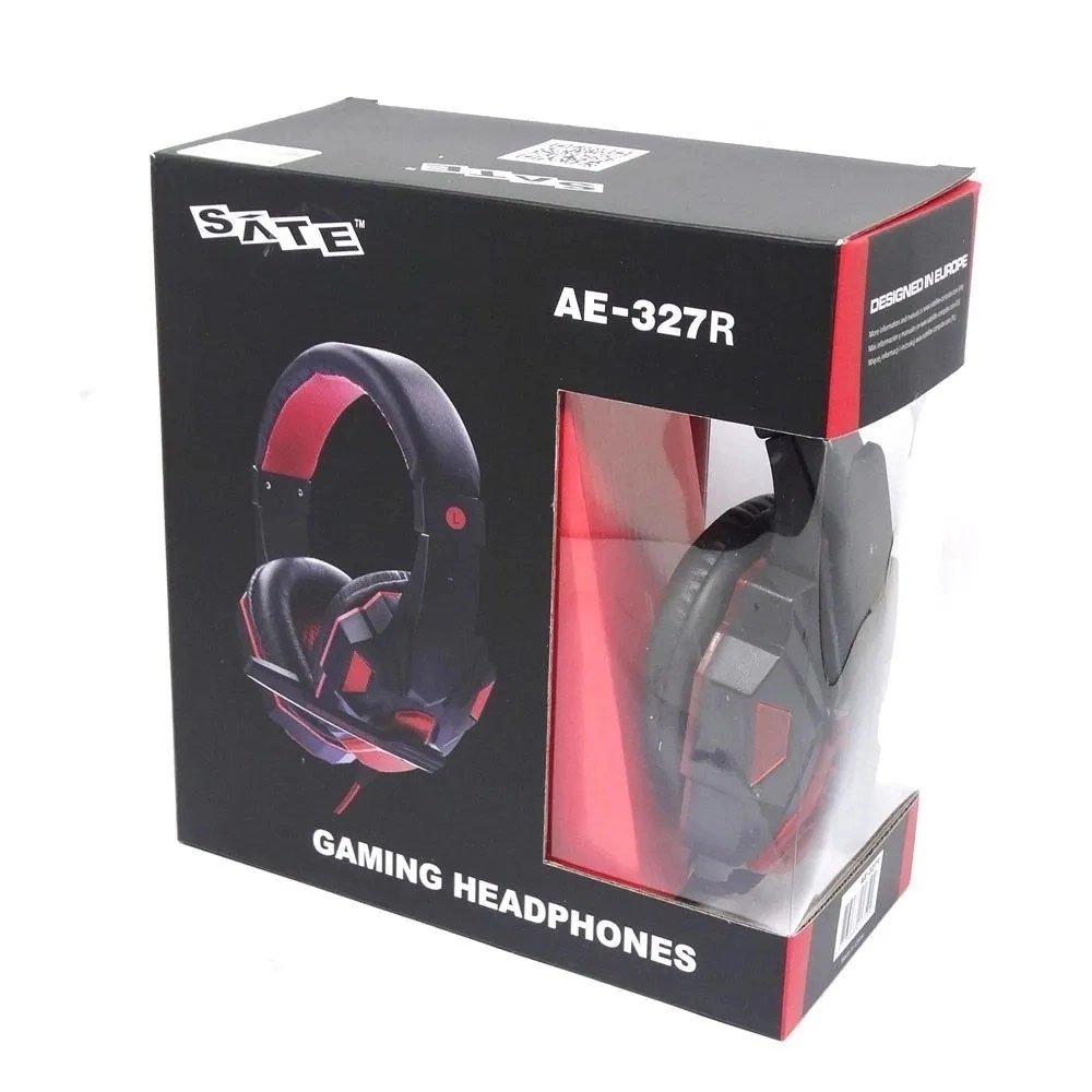 fone de ouvido com microfone gamer p2 satellite ae 327r vermelho 50851 2000 202608 1