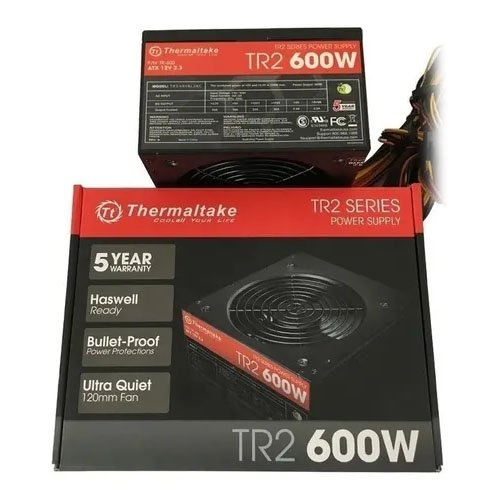 fonte atx gamer 600w thermaltake tr2 600cus 50854 2000 202616 2