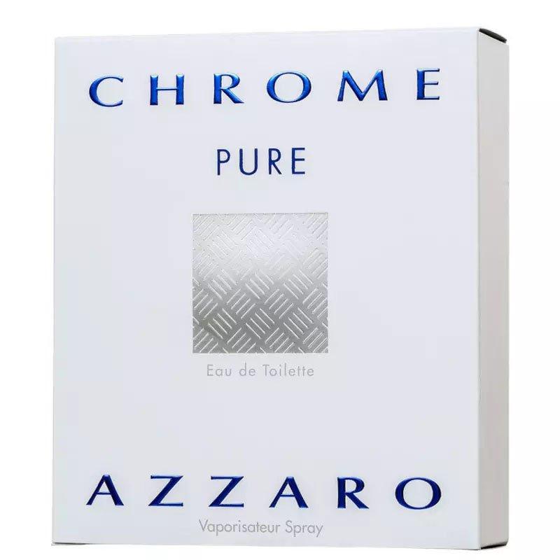 perfume azzaro chrome pure masculino edt 100 ml 50800 2000 202400 2
